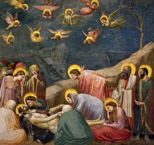 jesus descendido de la cruz lamentos Giotto
