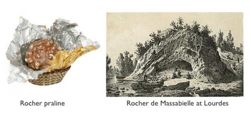 ferrero rocher y gruta de lourdes