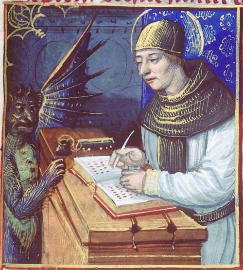 titivillus atormenta a un escriba