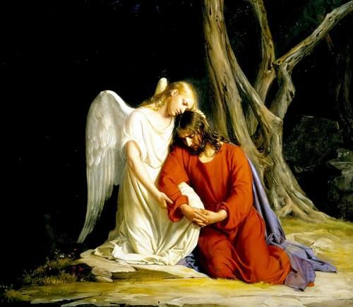 angel en getsemani Carl Bloch fondo
