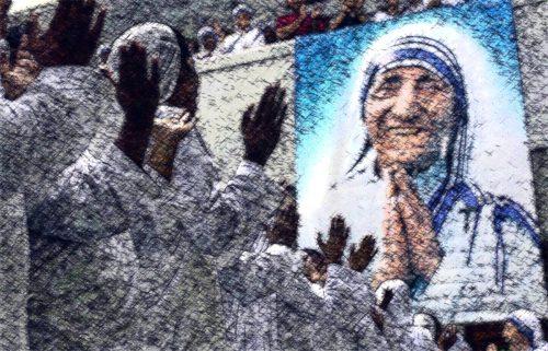 misionera de la caridad e imagen de la madre teresa de calcuta