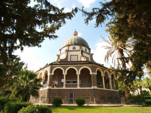Iglesia del Monte de las Bienaventuranzas en Galilea