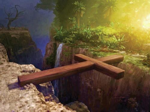 cruz haciendo un puente