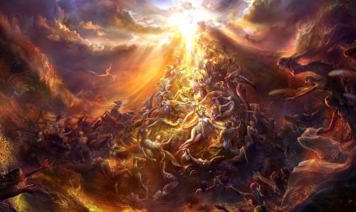 el purgatorio fuego purificador o fabula mortal fondo
