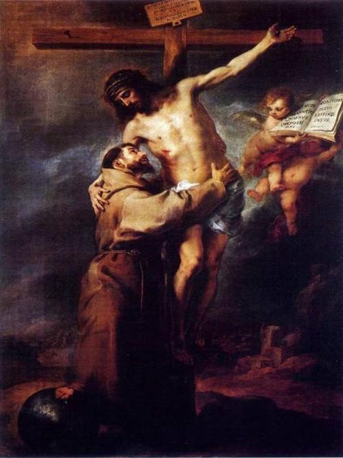 san francisco de sis y jesuscristo murillo