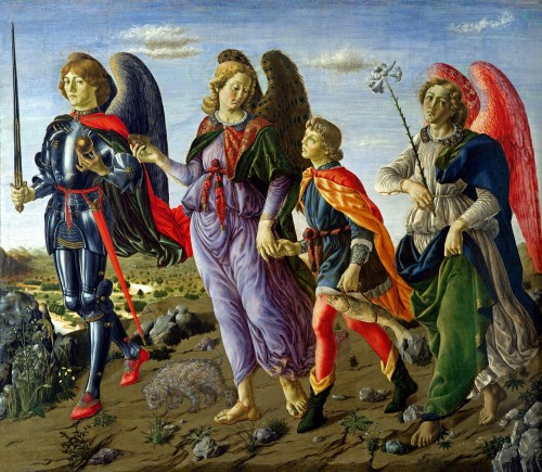 arcangeles y tobias Francesco Botticini