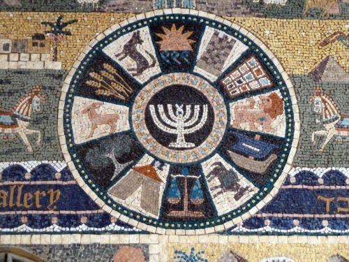 Mosaico de las 12 tribus de Israel