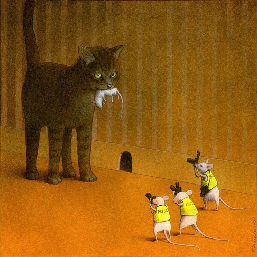 Pawel Kuczynski gato con ratones