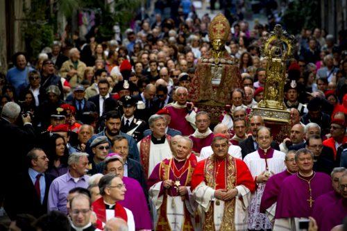 procesion de san genaro 19 de septiembre