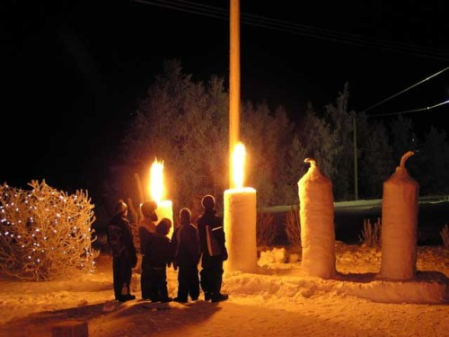adviento velas gigantes