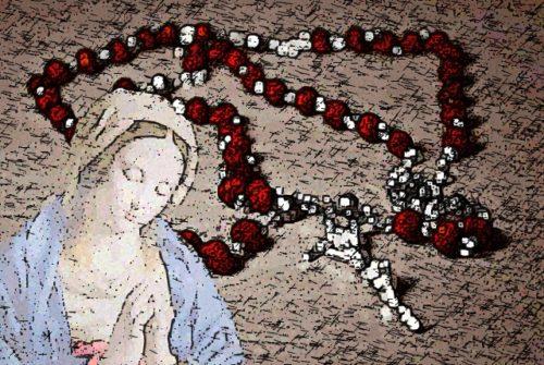 Virgen Maria y el rosario