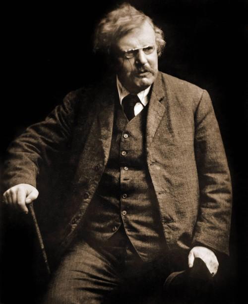 Gilbert Keith Chesterton (1874-1936), écrivain anglais.