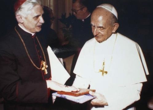 Pablo VI y el Cardenal Ratzinger