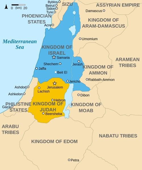 mapa de juda e israel
