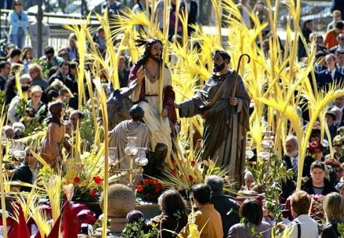 procesion de domingo de ramos