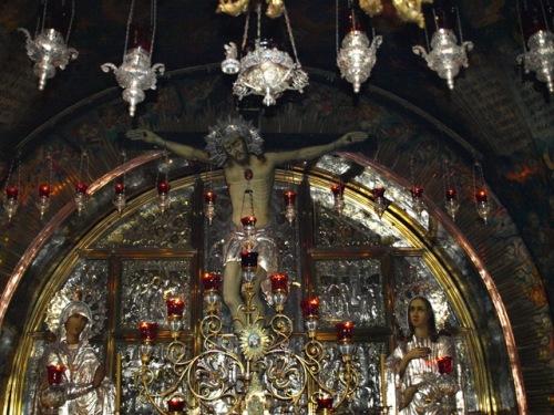 Jesus Crucificado en la Basilica del Santo Sepulcro en Tierra Santa