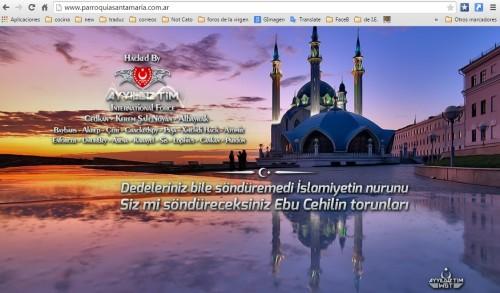 sitio de parroquia santa maria hackeado en bs as
