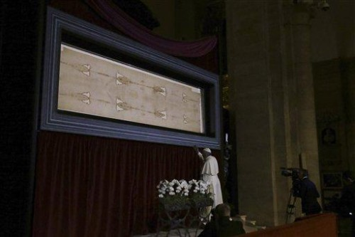 papa francisco ante sabana santa