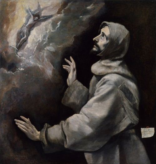 El Greco san francisco recibiendo los estigmas