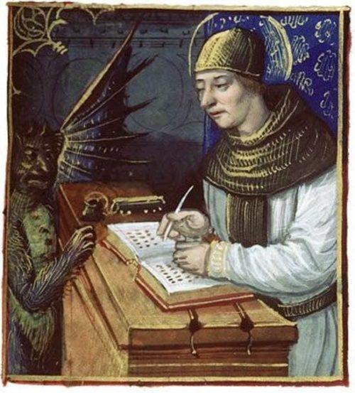 monje con el diablo y codigo gigas