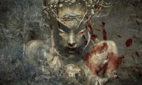 mujer demonio fondo