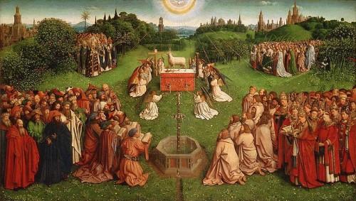 retablo de adoracion al cordero