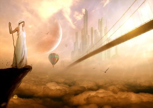 ciudad del cielo fondo