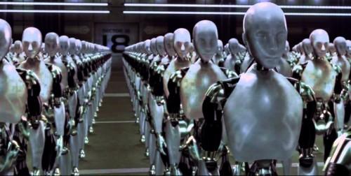 robots todos iguales fondo