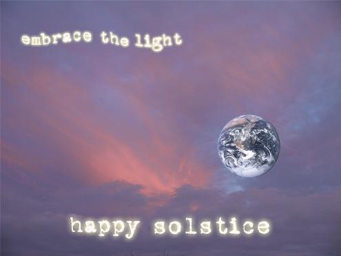 tarjeta del solsticio de invierno