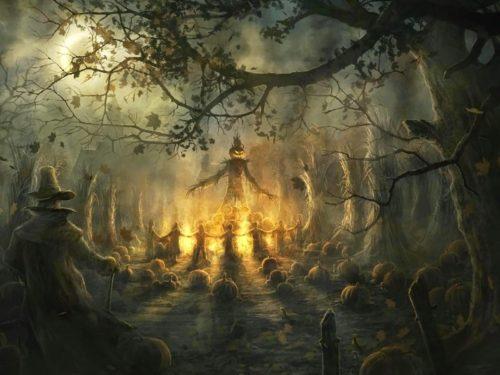hoguera halloween