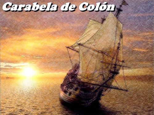 Carabela de Colon navegando