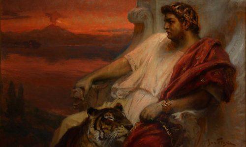 neron con un tigre