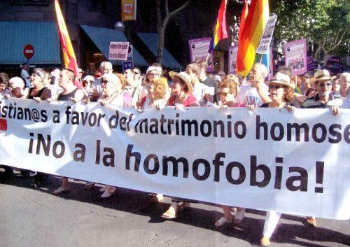 matrimonio homosexual homofobia manifestacion de cristianos