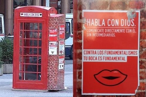 cabina telefonica habla con dios