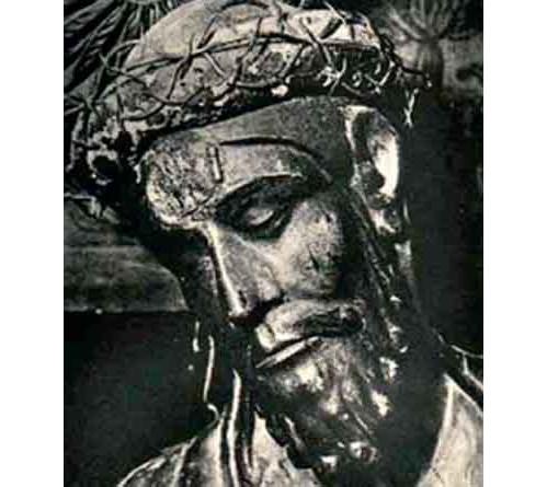 cabeza de jesus con la cavidad de la cabeza