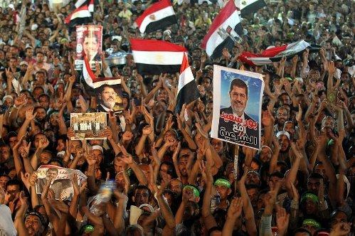 manifestacion pro morsi en egipto