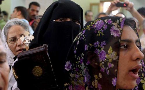 musulmanas en la celebracion de un santo