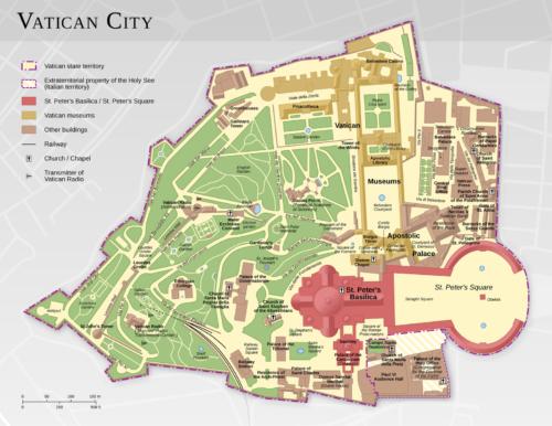 mapa del vaticano