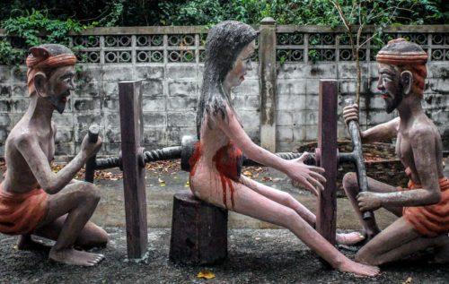 tortura el el infierno budista