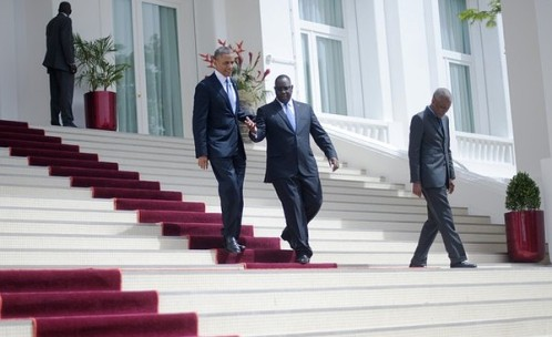 Presidente de EEUU y Senegal en Senegal