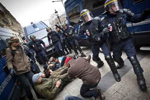represion policial manif pour tous