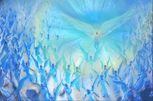 angeles en azul