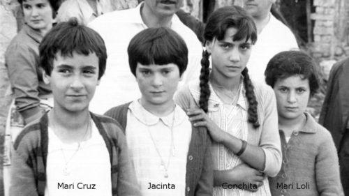 Las niñas videntes: Mari Cruz, Jacinta, Conchita y Marí Loli