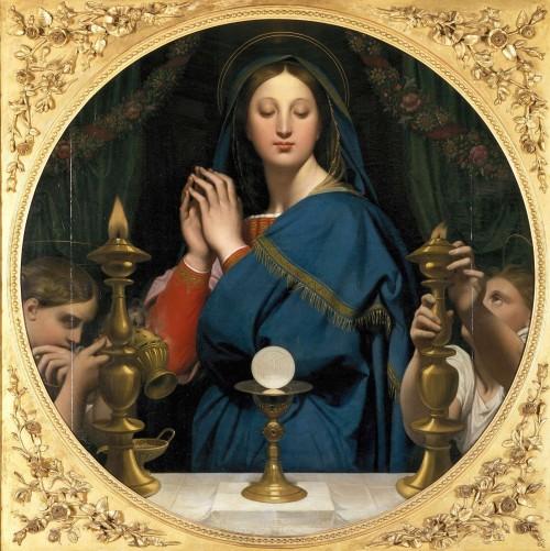 La Virgen adora la Hostia