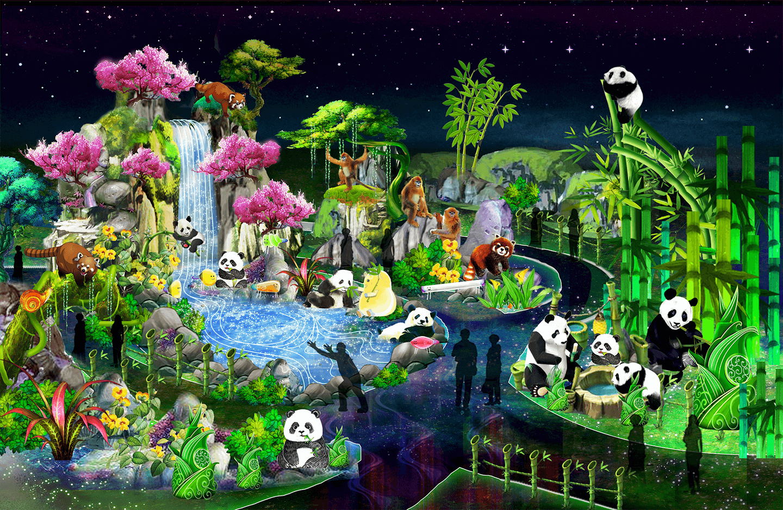 the-birengxia-panda-reserve-the-wild-adventure-light-arts-luminocity-festival-rendered-image