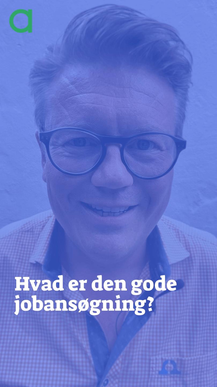 """Billede af Ulrik Nerløe der står bag teksten """"Hvad er den gode jobansøgning?"""""""