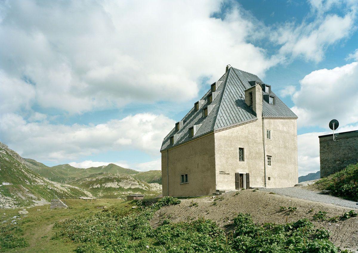 Old hospice, St. Gotthard Pass by Miller & Maranta