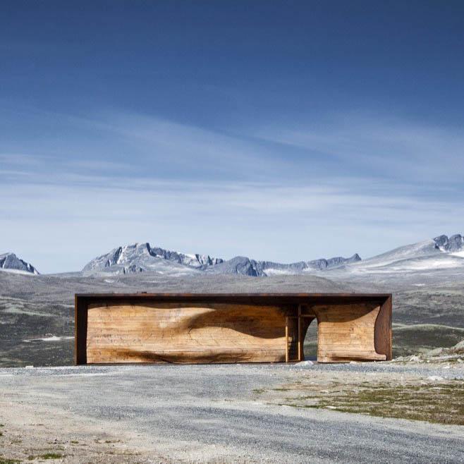 Tverrfjellhytta, Norwegian Wild Reindeer Pavilion by Snøhetta