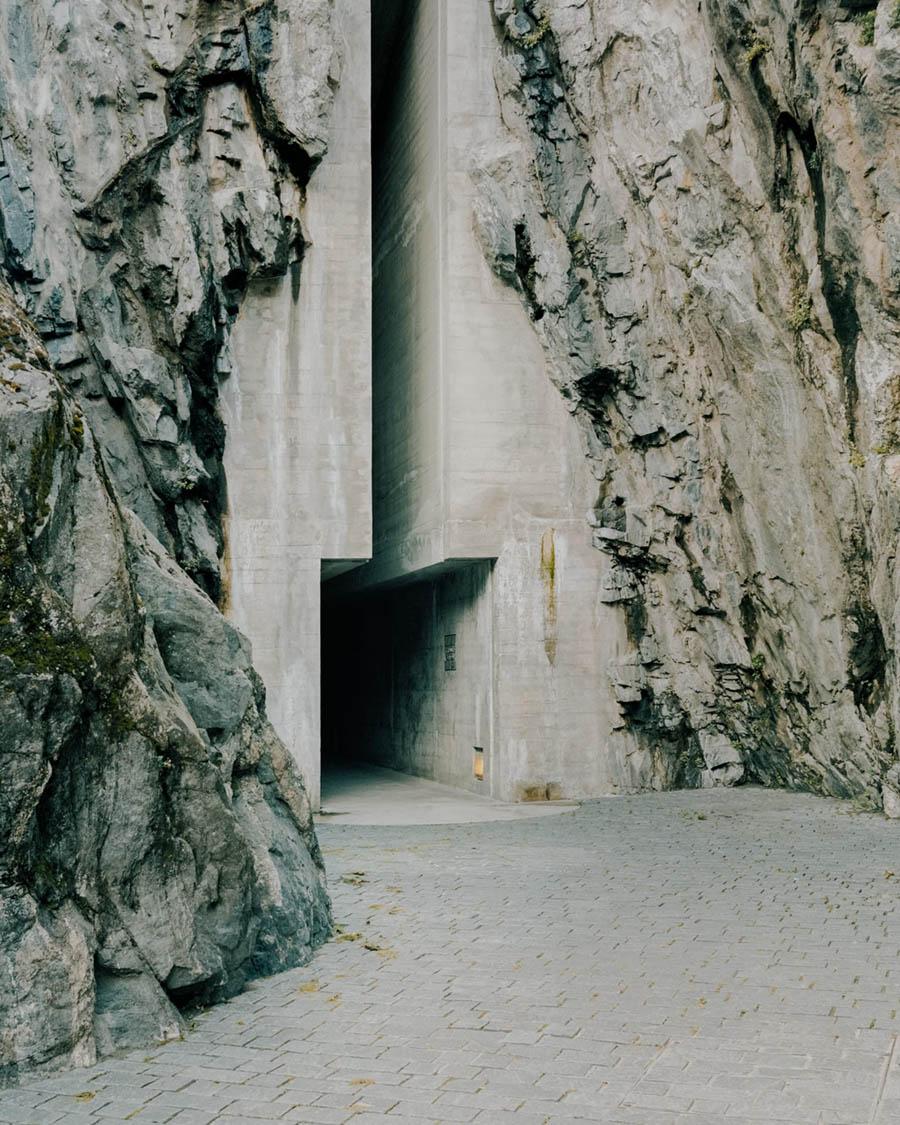 Aurelio Galfetti Castelgrande Entrance by Simone Bossi