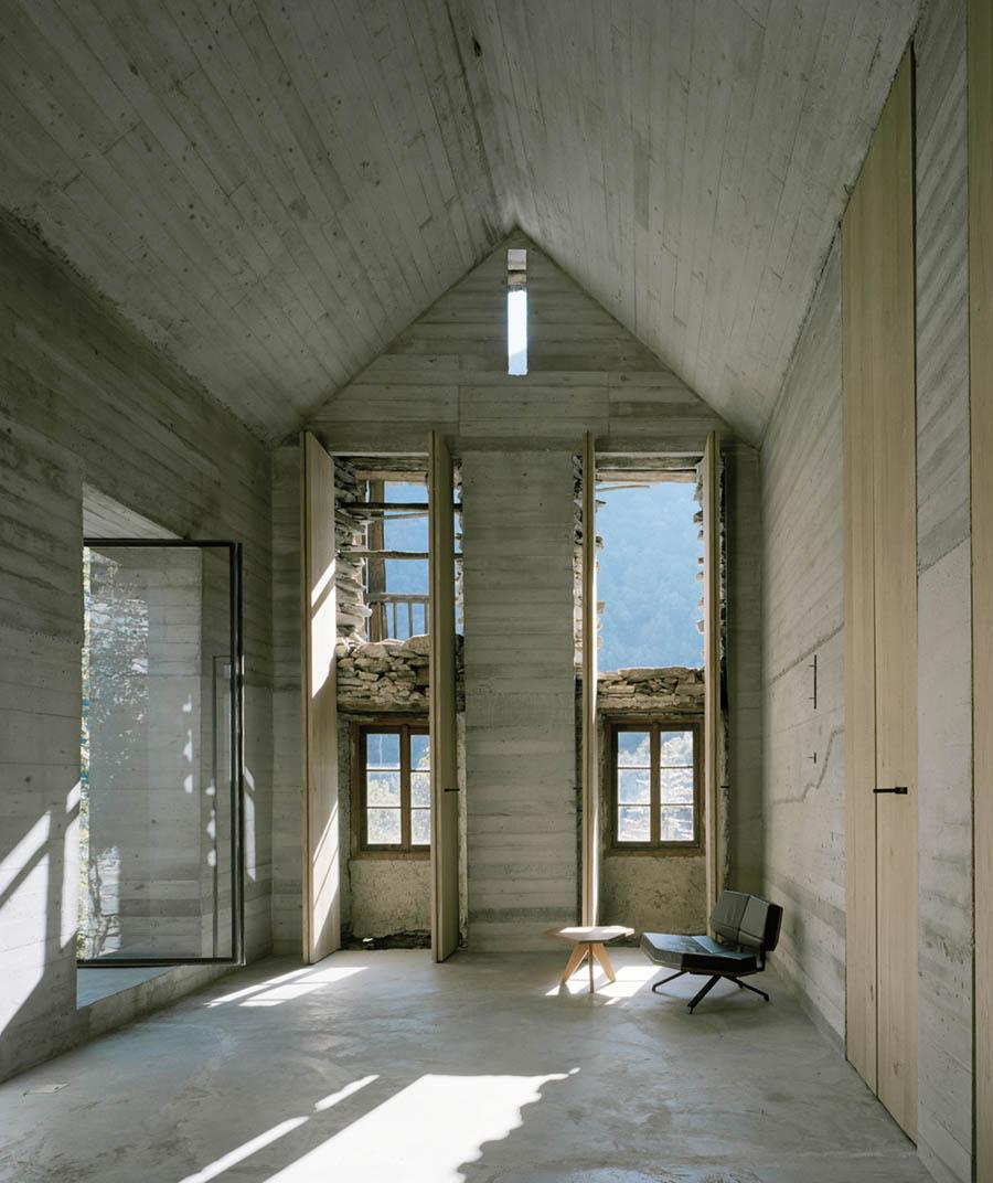 Summer House in Linescio by Buchner Bründler Architekten